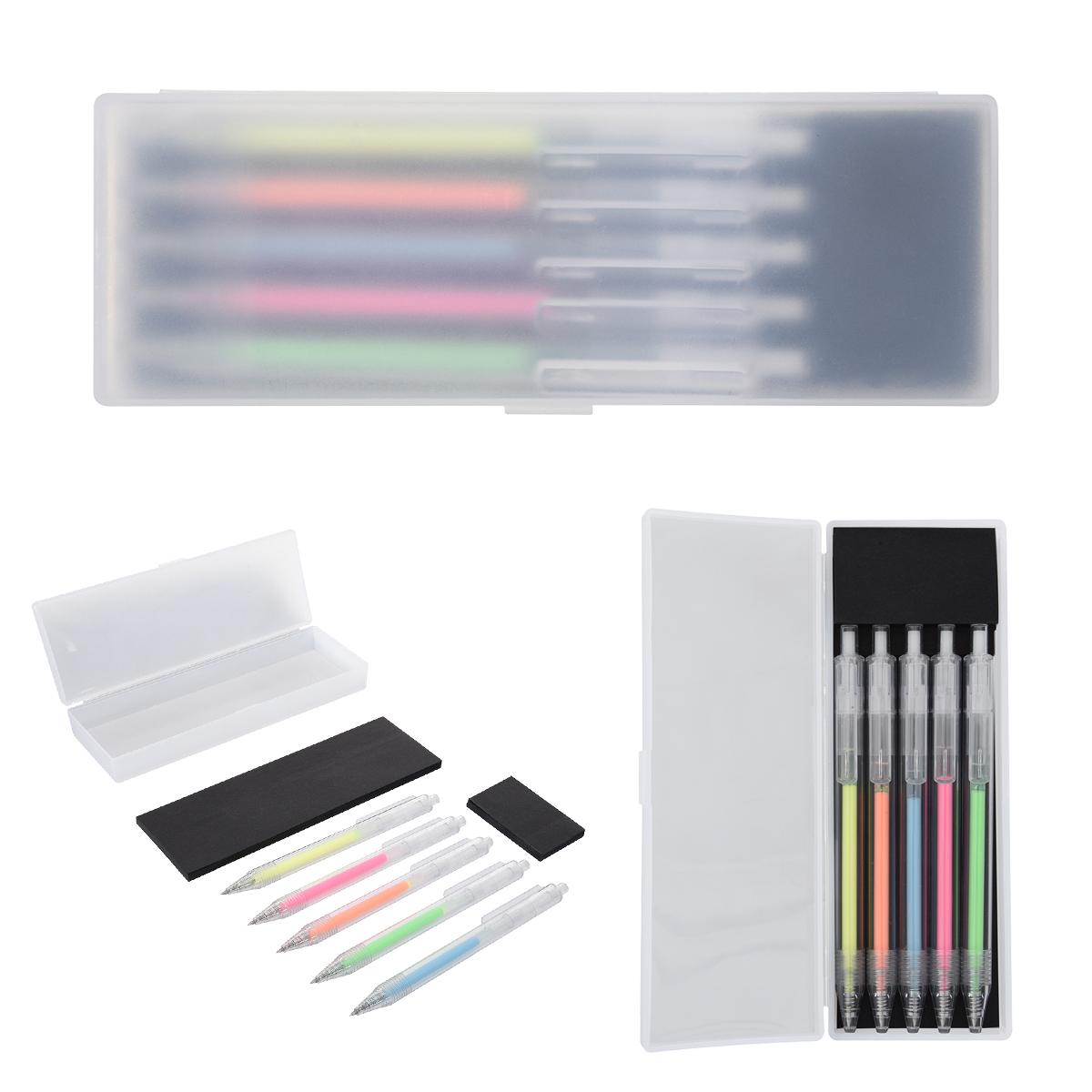1364 - Set de bolígrafos con tinta de gel Jazi