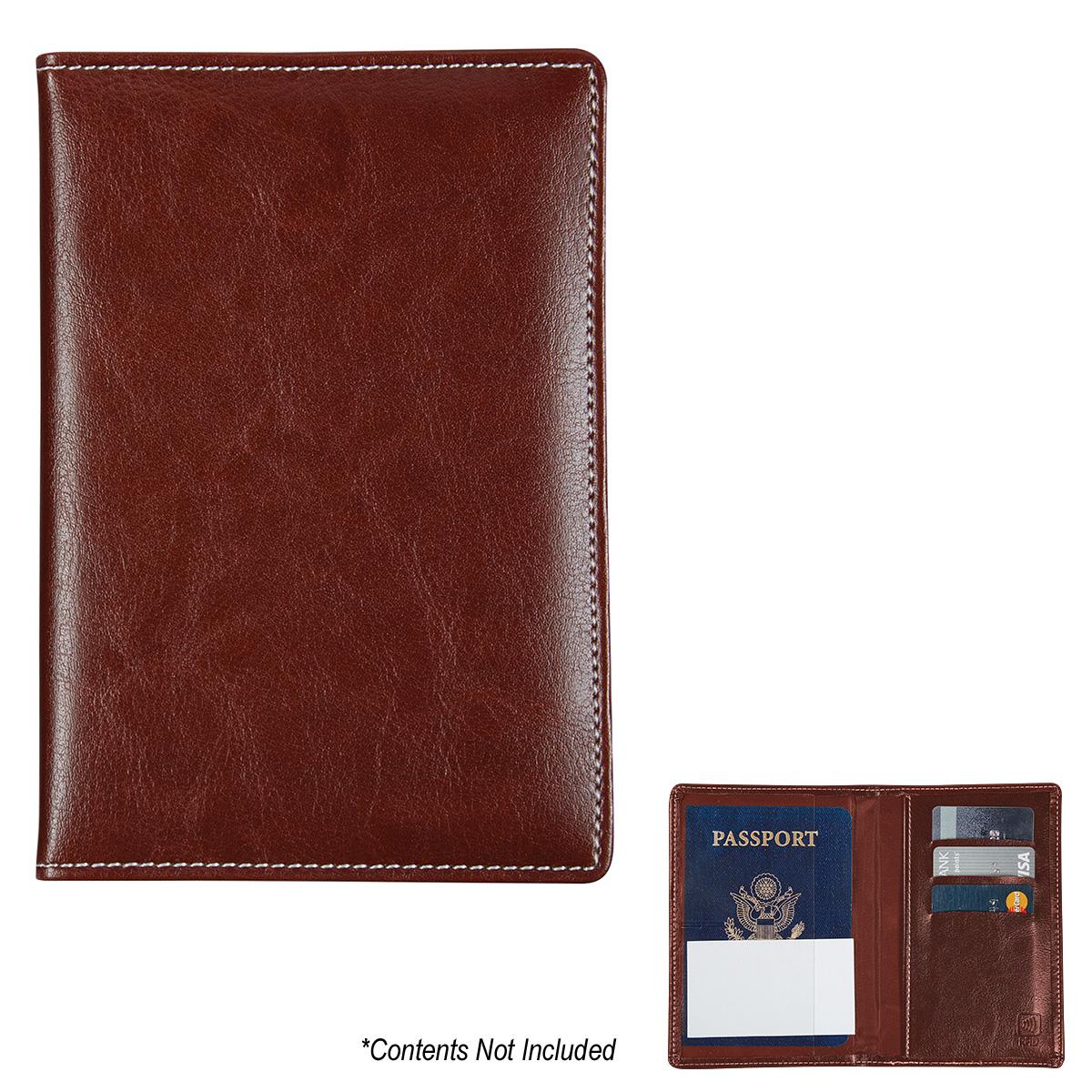 1628 - Porta Pasaporte Ejecutivo con Seguridad Anti Clonación RFID