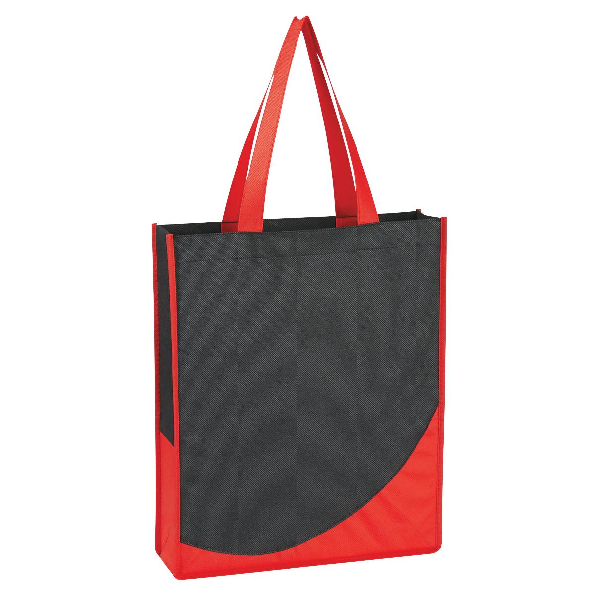 3028 - Bolsa negra Non-Woven con colores decorativos