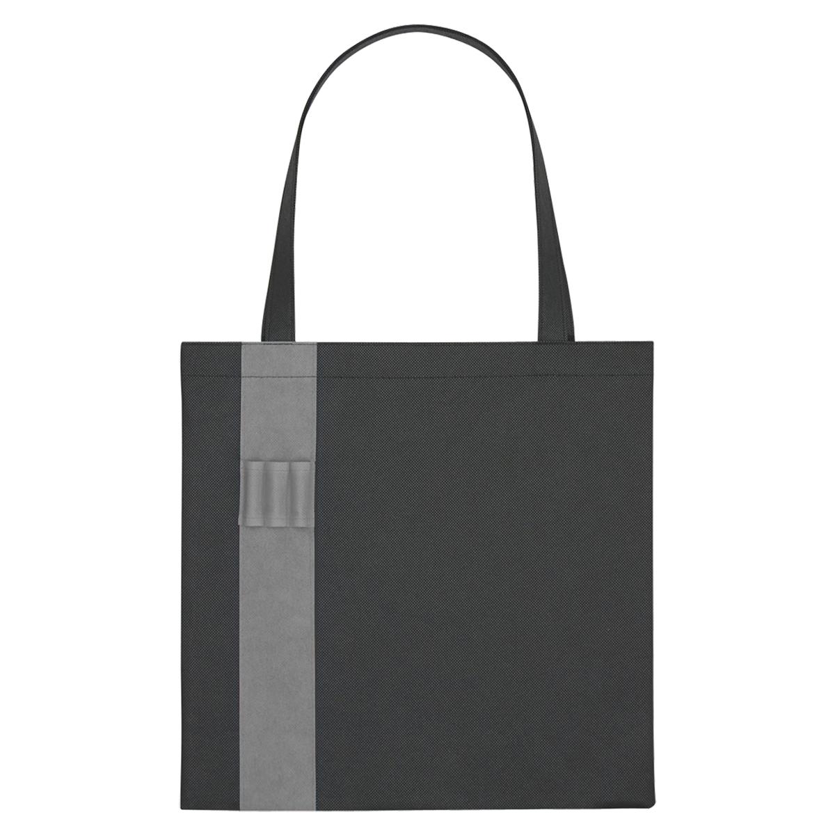 3045 - Bolsa Non-Woven negra con adornos de color