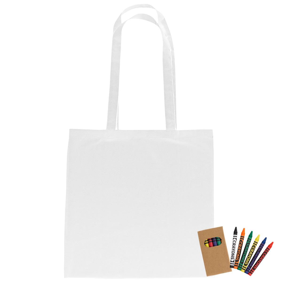 3920 - Bolsa 100% de algodón con crayones de colores