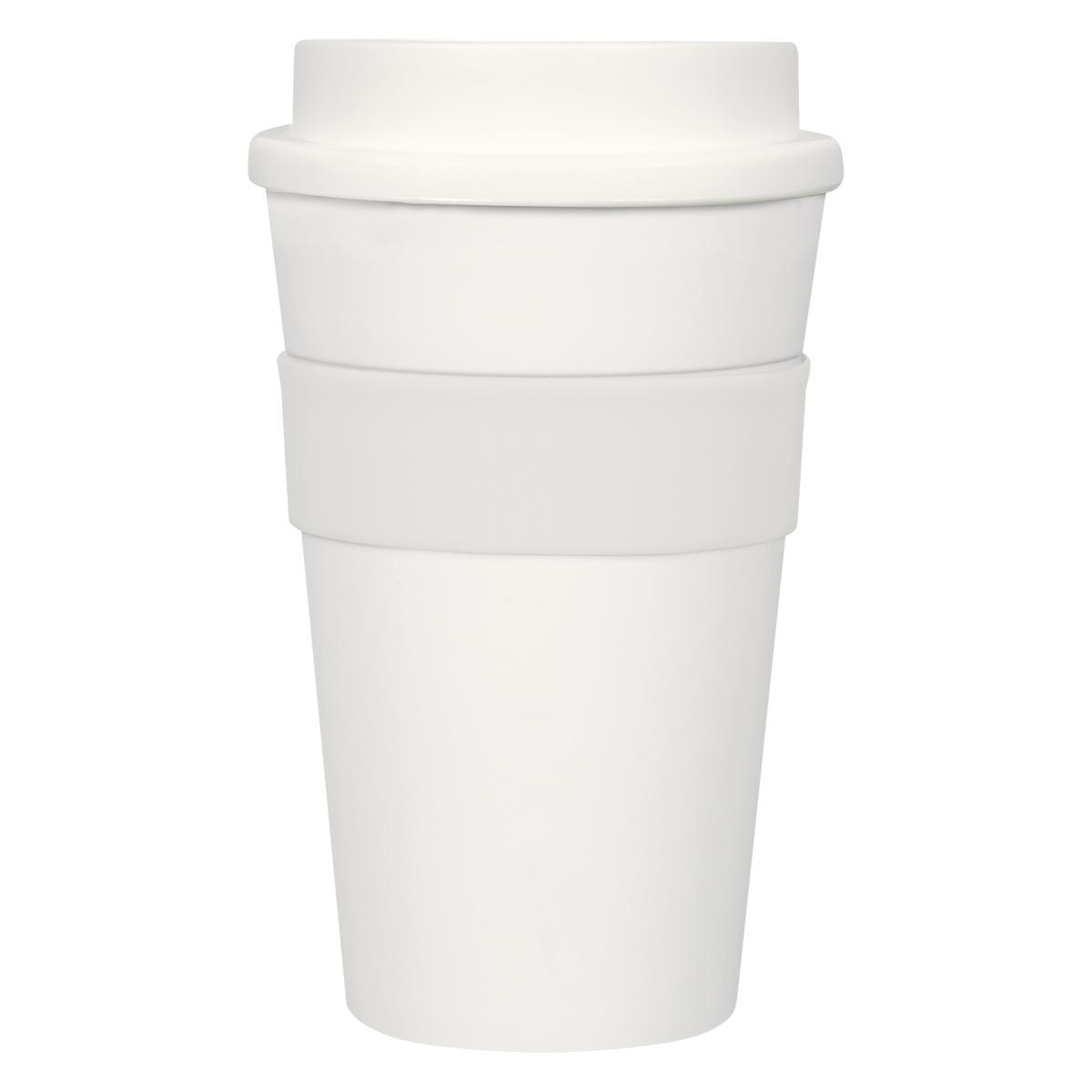 5766 - Vaso térmico 473 ml. con Banda de Silicón