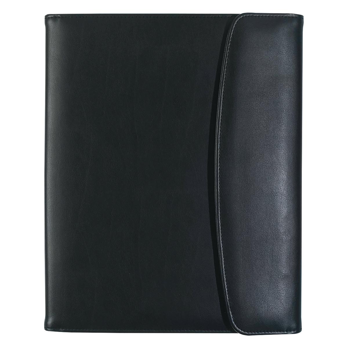 6404 - Portadocumentos Cubierto de Curpiel de PU con Bloc de Notas y Tarjetero