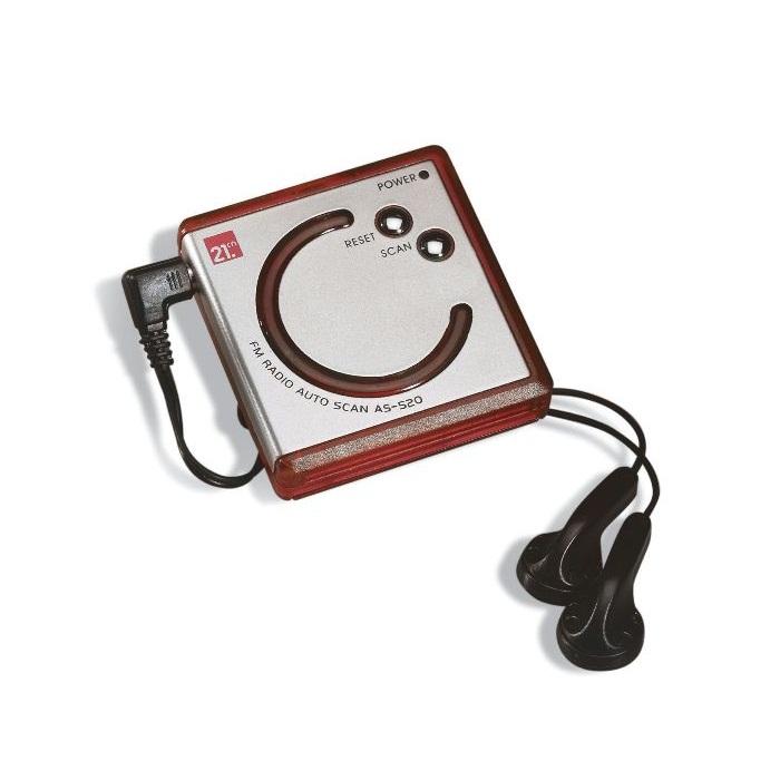 C02-0019 - Radio Portátil FM con Clip y Audífonos