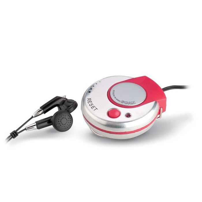 C02-0032 - Radio Portátil FM Circular con Audífonos