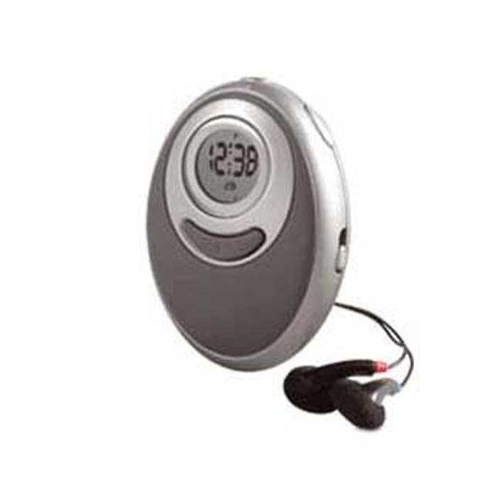 C02-0035 - Radio Portátil FM con Reloj , Alarma, Cronómetro y Audífonos
