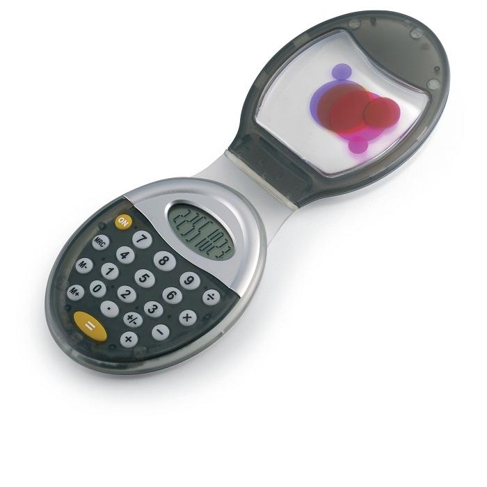 C03-0047 - Calculadora Oval con Tapa e Imán