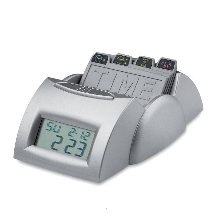 C04-0098 - Reloj Plástico con Tarjetas de Alarma