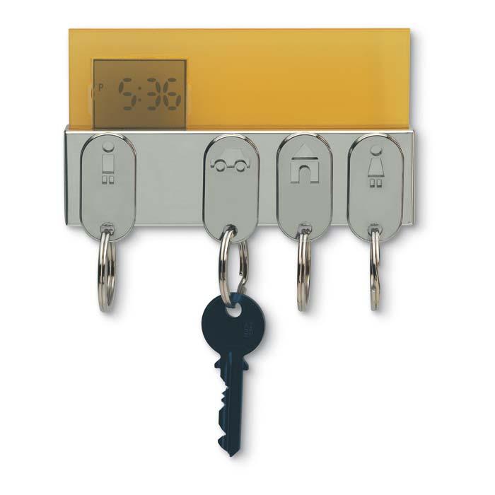 C04-0104 - Reloj Digital con Porta Llaves Metálico 104