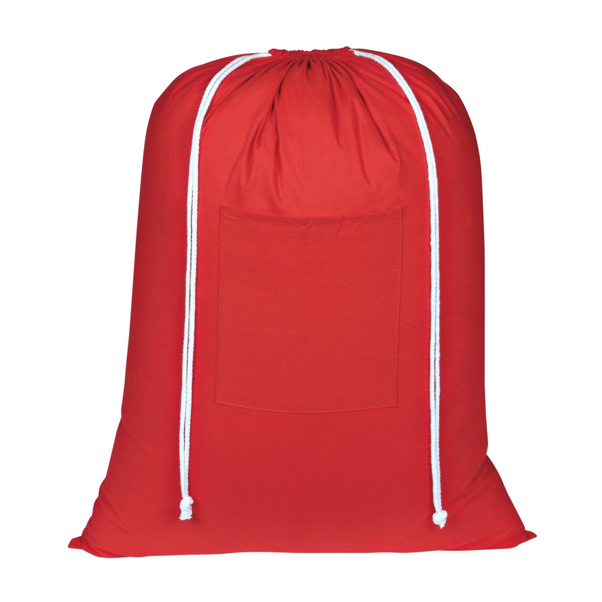 C09-0283 - Bolsa 100% Algodón Rojo con Jaretas