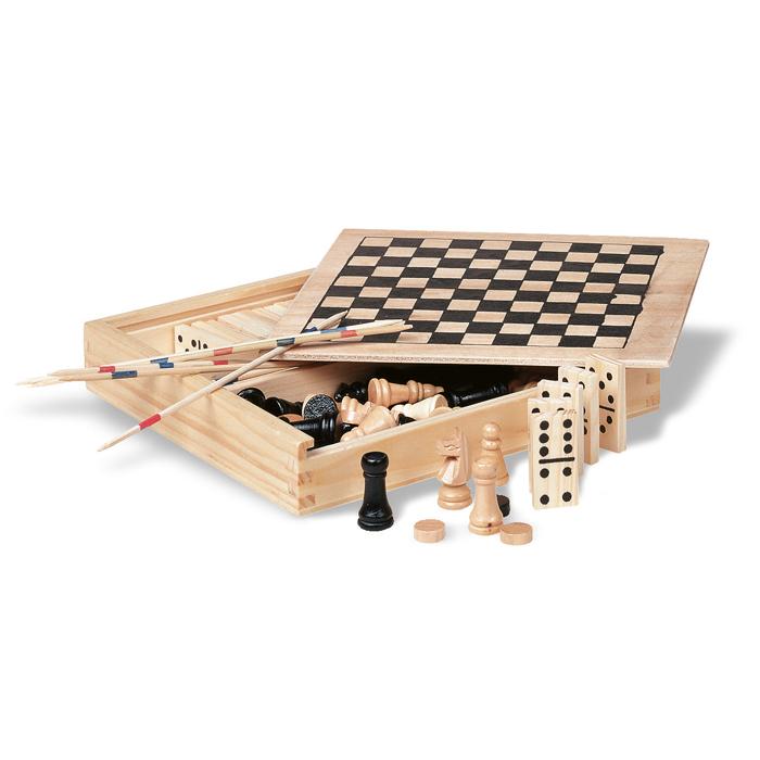 KC2941 - 4 juegos en caja de madera