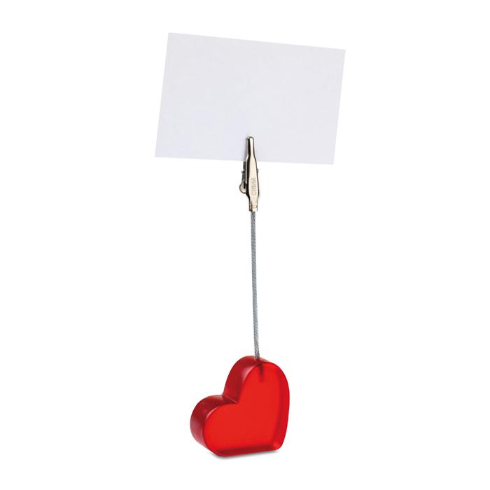 MO7157 - Clip de Fotos y Notas en Forma de Corazón de Poliresina
