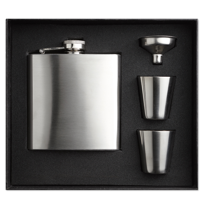 MO8321 - Set de Licorera Delgada de Acero Inoxidable 175 ml