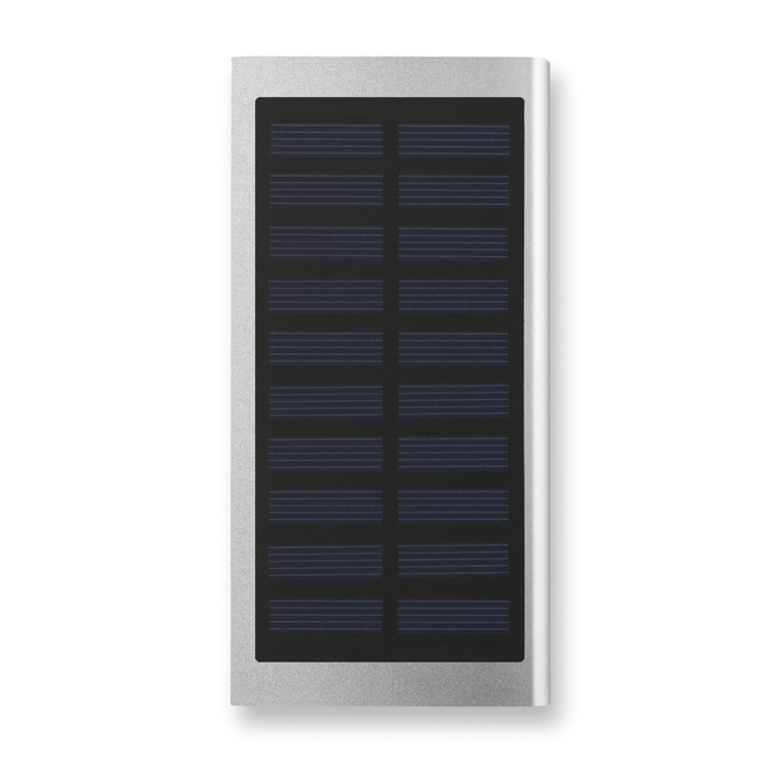 MO9051 - Batería Recargable de 8000 mAh de Aluminio con Panel Solar