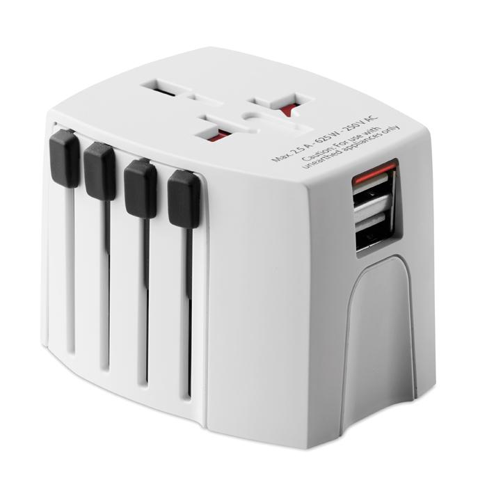 MO9324 - Adaptador de Corriente Universal MUV USB de SKROSS® con 2 Polos