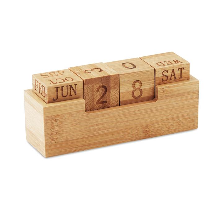 MO9404 - Calendario de Escritorio de Bambú