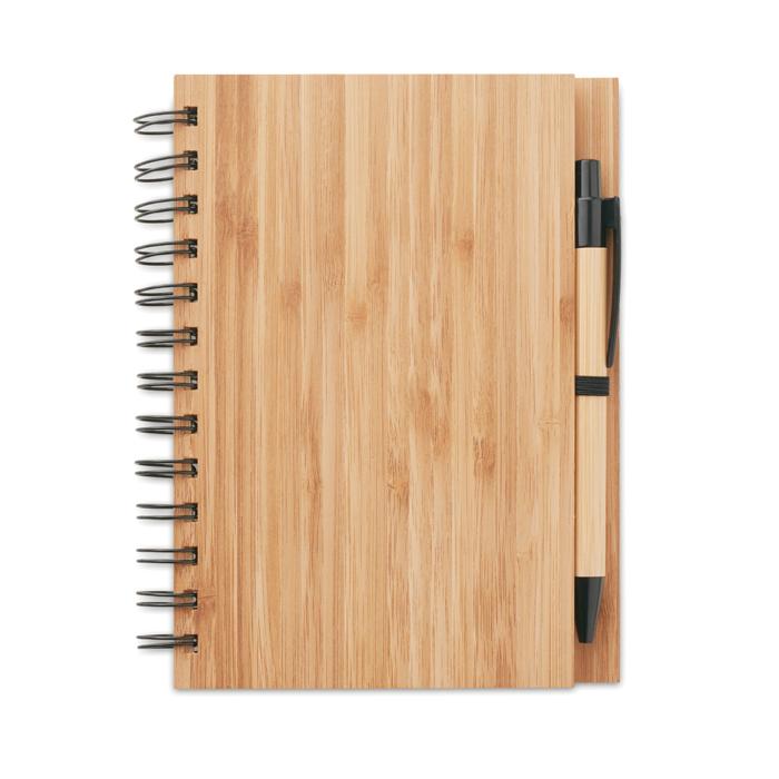 MO9435 - Libreta con Bolígrafo de Bambú
