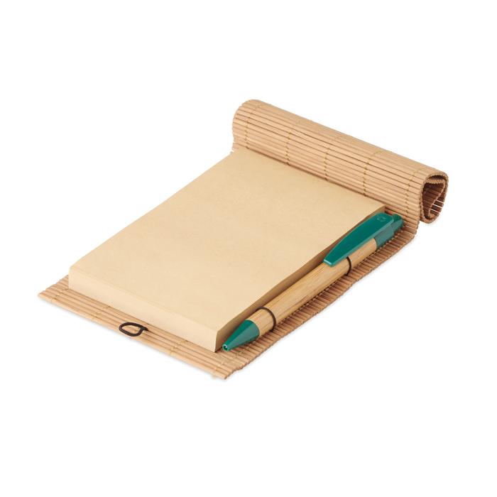 MO9570 - Bloc bambú con bolígrafo