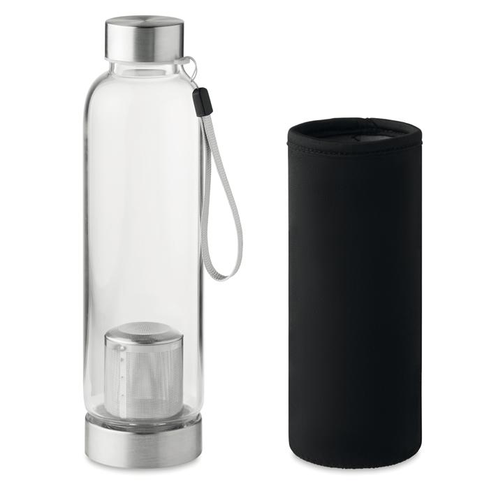 MO9636 - Botella de Vidrio Utah Tea con Funda de Neopreno 500 ml