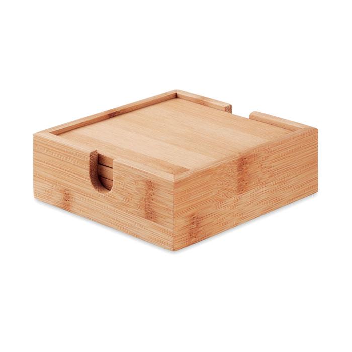 MO9683 - Set Ecológico de Portavasos de Bambú