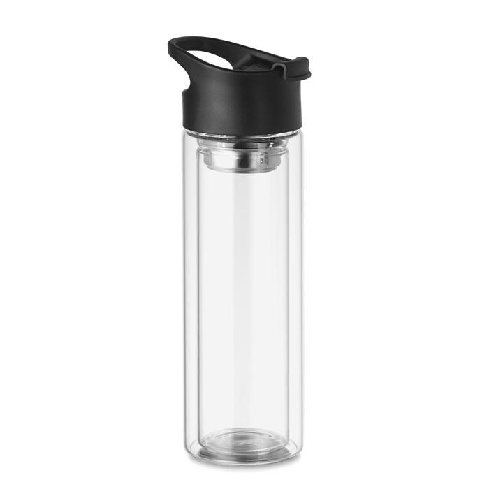 MO9797 - Botella de Cristal Doble Pared e Infusor de Té