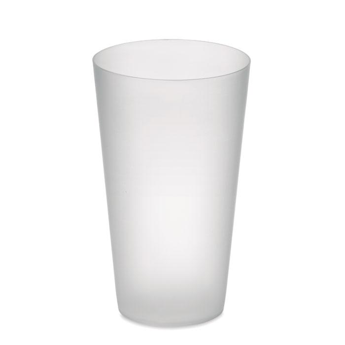 MO9907 - Vaso reutilizable de PP, en acabado glaseado. Capacidad 550 ml.